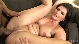Mature with big ass hardcore fucked off out of one's mind big black cock around interracial sex