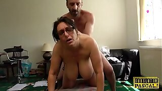 Mature UK sub with big boobs gets roughfucked