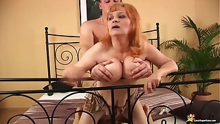 redhead busty muted mature rough fucked