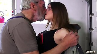 Such an innocent petite young pussy be advantageous to an old horny hairy grandpa