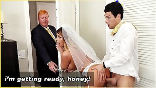 BANGBROS - MILF Bride Brooklyn Woo Gets Fucked By Law Son!