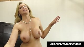 Gumshoe Sucking Cougar Julia Ann Sucks & Strokes Unlucky Cock!