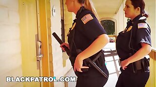 Malicious PATROL - White Cops With Big Tits Riding Big Black Weasel words On The Job