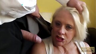 PASCALSSUBSLUTS - Choked granny Chant gets rough anal sex