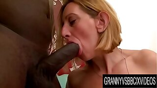 Granny Vs BBC - Doyen Light-complexioned Lilou Ch Takes It up the Ass