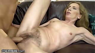 21Sextreme Bushy Granny Joined away from Stud in Shower