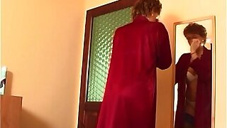 Redhead Grandma With regard to Laced Stockings Fucks Young Hawkshaw
