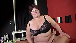 BBW and regimen granny stay away from sexual compilation