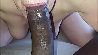 69 yold Granny Dot in Wales pulling my young black dick pt 2