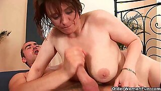 Cum hungry moms will use up your balls