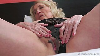 Horny Granny With an increment of Her Younger Lover