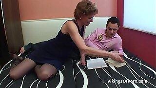 Mother and Stepson Bonding Bonking Moment