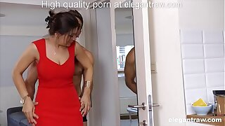Big Daddy brunette MILF is fucked all round the morning by her lover
