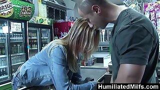 HumiliatedMilfs - Slutty milf sucks and fucks readily obtainable the convenience store