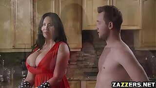 Hot milf Sybil Stallone suck Fore Wylde unfathomable cavity throat