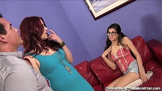 Hot Babysitter Double Teamed By Get hitched and Husband!