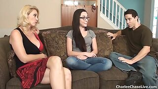 Hot join in matrimony Charlee Chase breaks in a catch horny teen babysitter