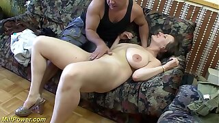 busty german Milf enjoys a obese dick in her irritant