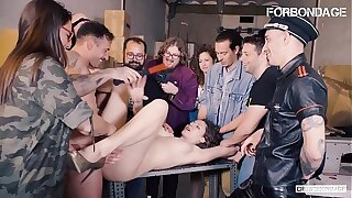 FORBONDAGE - Russian Hot MILF Sofia Crispy Tries BDSM And Gets Drilled Hardcore In Group Sex