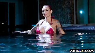 Amazing anal sex on touching MILF pornstar Anna Bell Peaks