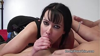British MILF Tanya Cox sucks added to fucks large white cocks