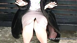 English milf persuaded to trace outdoors