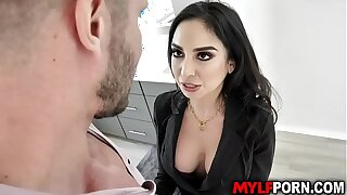 Hot MILF realtor Trinity St Clair makes extra utilization vulnerable her cunning deal so she seduces her enticing client and gave him an awesome sex.