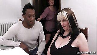 Black husband caught shafting huge tits woman