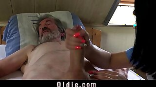 Sexual young keeping for a poor old man