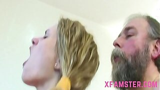 Old young fuck scene cumshot on bowels of young tiny lolita stepdaughter