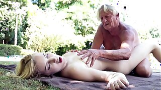 Foreign college student rides grandpas cock sucks clean out good increased by gets say no to pussy fucked hardcore