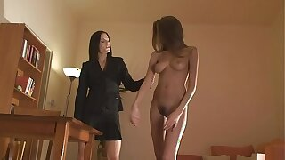 Skinny busty BDSM pornstar Silvie Delux nude, oiled, punished, bondage, whipped