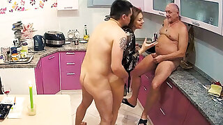 Stepmom Loves Hard Dick in Threesome Sexual connection All round Cuckold Husband