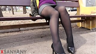 I'm walking on someone's skin street and I have Cum on my Panties! - SanyAny