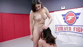 Valentina Bellucci Riding Cock In Wrestling Fight vs David