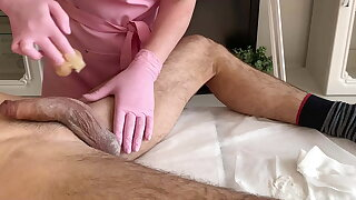 A lot of semen - exclamation during waxing