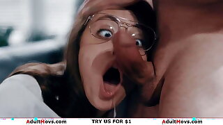 Busty milf stepmom rides stepson who's facesitted by stepsis