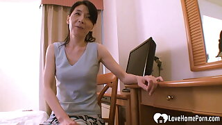 Asian mom helps the brush stepson learn with reference to coition