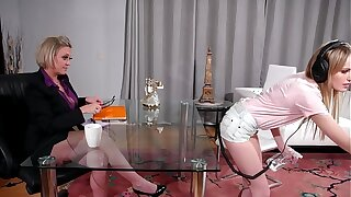 Cleaning Woman And The Mature Queen Having Sex In The Office - Scarlett Calculating added to Dee Williams